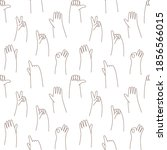 doodle hands seamless pattern.... | Shutterstock .eps vector #1856566015