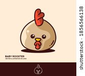 Baby Rooster  Cute Vector...