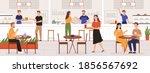 people in food court. adult men ...   Shutterstock .eps vector #1856567692