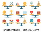 scales work balance. time is... | Shutterstock .eps vector #1856570395