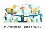 money and idea balance.... | Shutterstock .eps vector #1856570782