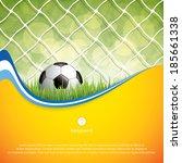 soccer ball on grass background ... | Shutterstock .eps vector #185661338