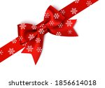 decorative red xmas bow with... | Shutterstock .eps vector #1856614018