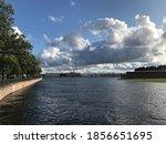 Summer Neva River   St...