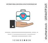 international universal health... | Shutterstock .eps vector #1856659165
