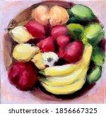 oil painting of fruit   lemons...