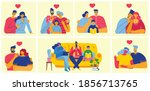 happy family. father  mother... | Shutterstock .eps vector #1856713765