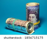 British Pounds Notes On The...