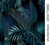 tropical night vintage palm ...   Shutterstock .eps vector #1856776882
