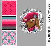 set of vector seamless patterns ... | Shutterstock .eps vector #1856794918