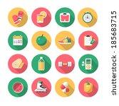 fitness flat icons | Shutterstock .eps vector #185683715