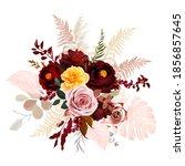 luxurious boho trendy vector... | Shutterstock .eps vector #1856857645