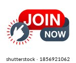 join us now web button  ...   Shutterstock .eps vector #1856921062