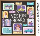 vision board cartoon planner...   Shutterstock .eps vector #1856937208