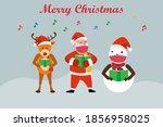 christmas vector concept  santa ... | Shutterstock .eps vector #1856958025