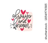 always and forever quote about... | Shutterstock .eps vector #1856974585