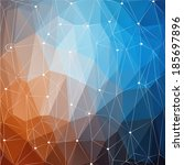 vector grunge retro triangle... | Shutterstock .eps vector #185697896