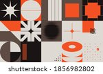 swiss design style abstract... | Shutterstock .eps vector #1856982802