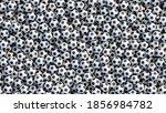 huge pile of soccer balls... | Shutterstock .eps vector #1856984782