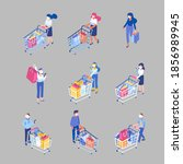covid 19. isometric people in...   Shutterstock .eps vector #1856989945