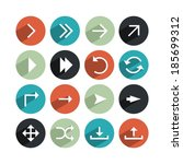 set of modern arrows icons