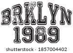 retro college style brooklyn...   Shutterstock .eps vector #1857004402