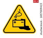dangerous batteries warning... | Shutterstock .eps vector #1857009415