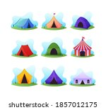 set of cartoon camping and... | Shutterstock .eps vector #1857012175