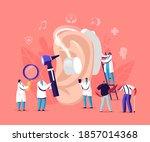 hearing loss  deafness. deaf... | Shutterstock .eps vector #1857014368