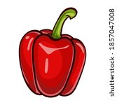 red paprika. sweet peppers...   Shutterstock .eps vector #1857047008