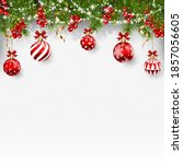 christmas background with balls ... | Shutterstock .eps vector #1857056605