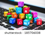 creative abstract computer... | Shutterstock . vector #185706038