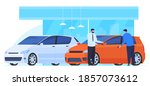 buying  selling  renting cars.... | Shutterstock .eps vector #1857073612