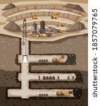 underground landscape of coal... | Shutterstock .eps vector #1857079765