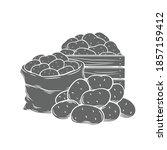 potato tubers monochrome glyph... | Shutterstock .eps vector #1857159412