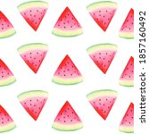 watercolor watermelon seamless... | Shutterstock . vector #1857160492