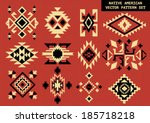 navajo   native american vector ... | Shutterstock .eps vector #185718218