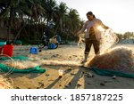 Fisher Woman With Fisher Net A...