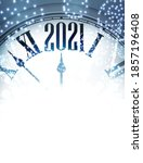 creative clock showing 2021... | Shutterstock .eps vector #1857196408