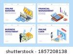 financial landing page.... | Shutterstock . vector #1857208138