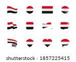 flags of yemen   flat... | Shutterstock .eps vector #1857225415