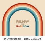 retrowave 80s art retro rainbow ... | Shutterstock .eps vector #1857226105