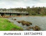 Metal Railway Bridge Across A...