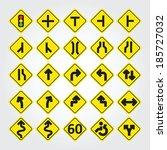 traffic road sign | Shutterstock .eps vector #185727032