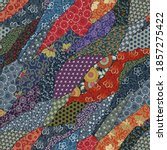 traditional japanese fabric... | Shutterstock .eps vector #1857275422