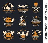 halloween badges. party scary... | Shutterstock . vector #1857287188