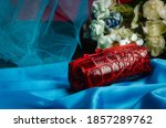 Key Holder Made Of Red Genuine...