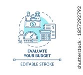 evaluate budget concept icon.... | Shutterstock .eps vector #1857292792