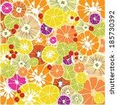 colorful citrus texture. vector ... | Shutterstock .eps vector #185730392