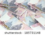 close up of thai money  ... | Shutterstock . vector #185731148